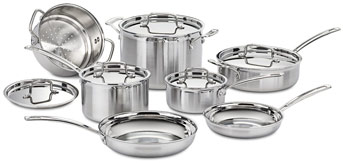 Cusinart stainless steel cookware set